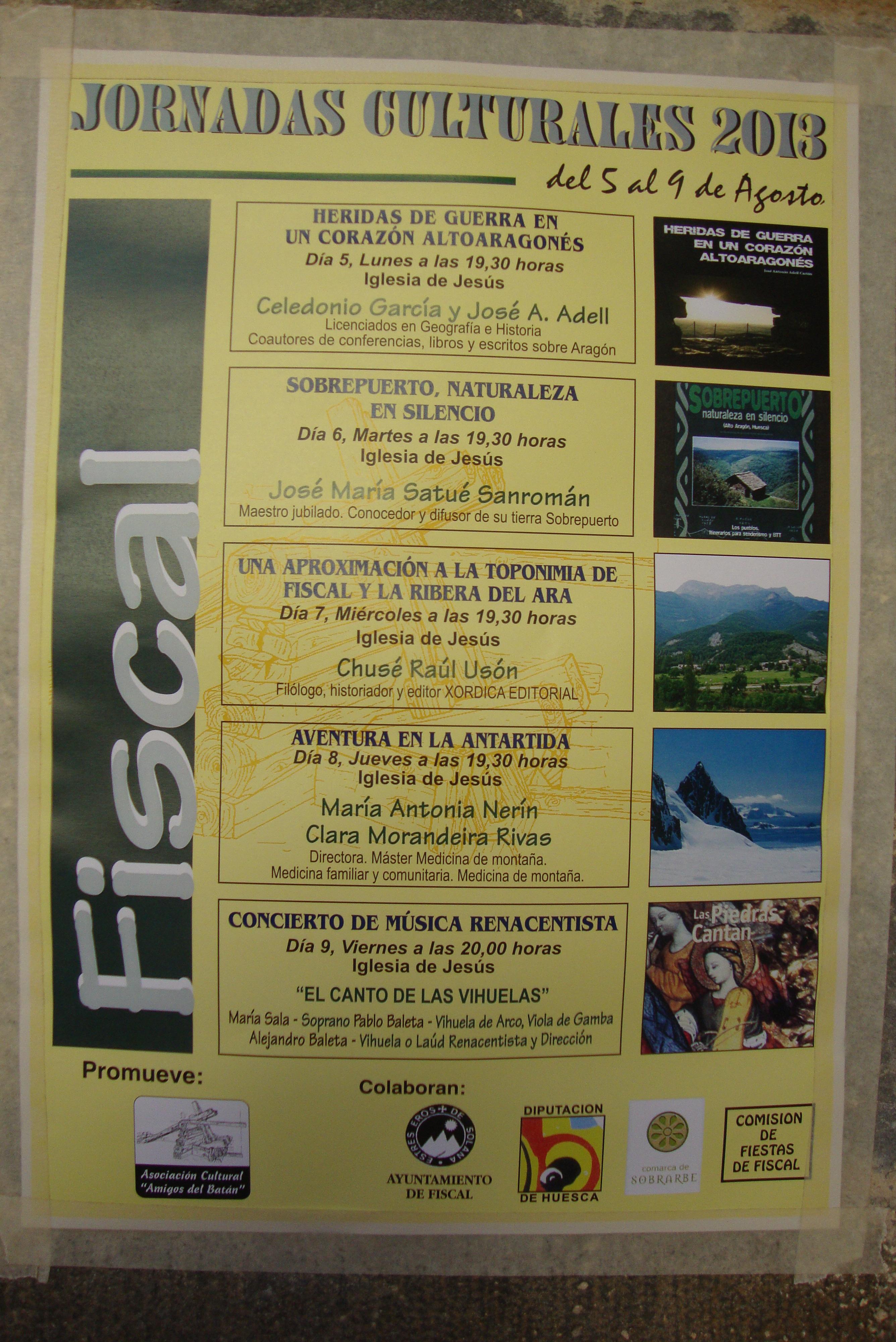 Jornadas culturales de Fiscal 2013. 09/08/2013