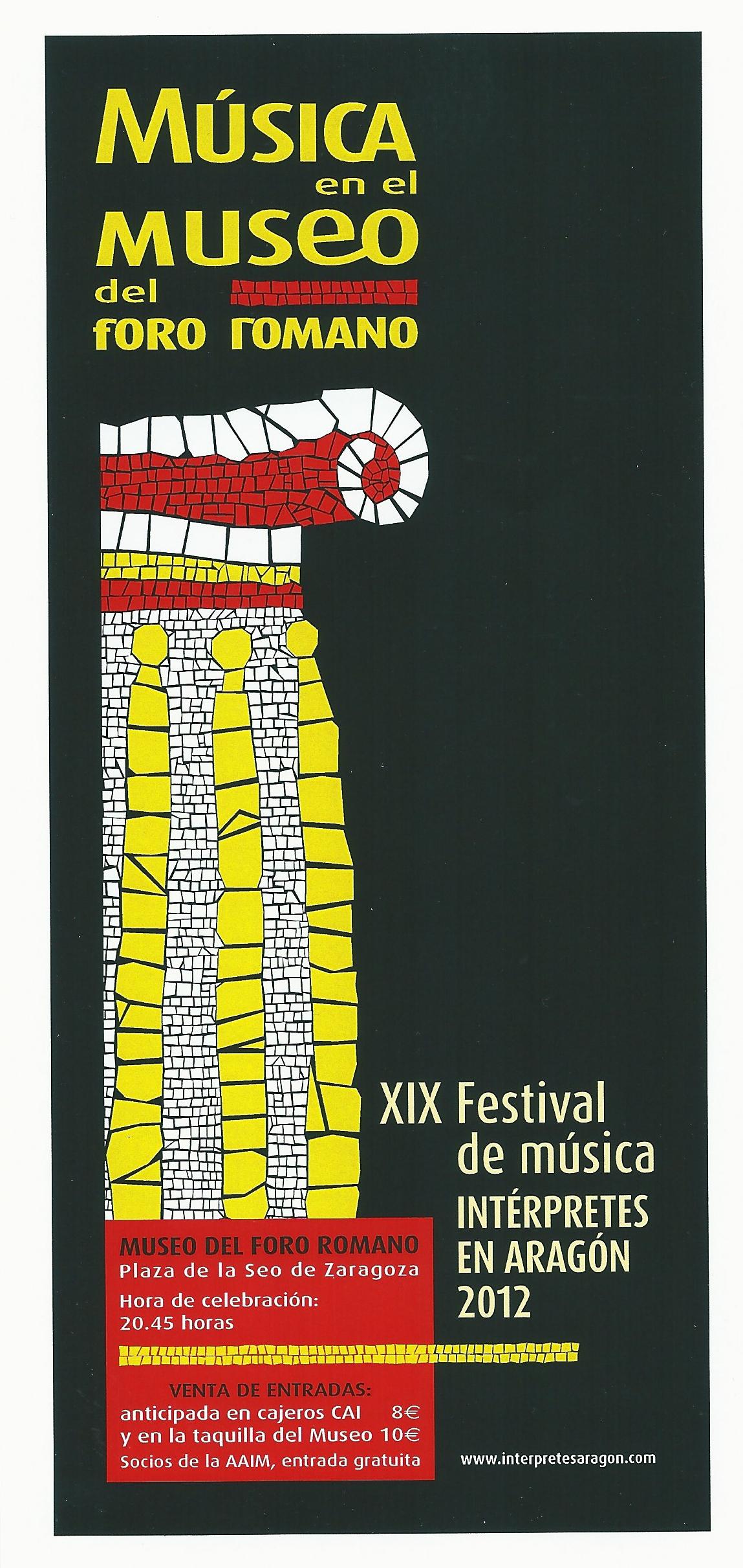 Concierto El Canto de las Vihuelas en el XVIII Festival de Musica en el Museo del Foro Romano 2012